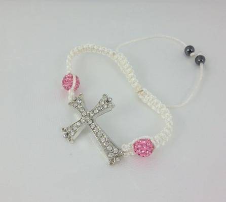 Greek easter candles greek easter gift greek godchild gift pink cross bracelet negle Gallery